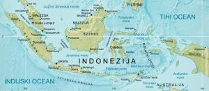 Zemljevid indonezijskega otočja.