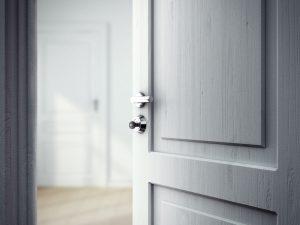 Notranja vrata, ki niso povsem dolgočasno vsakdanja, ampak nekoliko drugačna.
